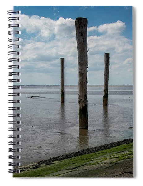 Spiral Notebook featuring the photograph Bohrinsel Viewing Platform by Anjo Ten Kate