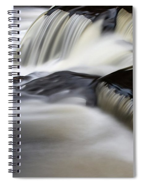 Spiral Notebook featuring the photograph Bond Falls 12 by Heather Kenward