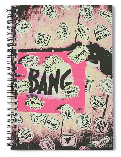 Boom Crash Bang Spiral Notebook