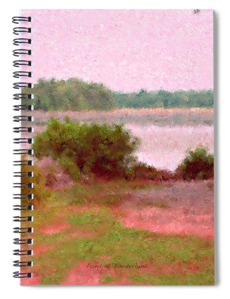 Borderland Pond With Monet's Palette Spiral Notebook