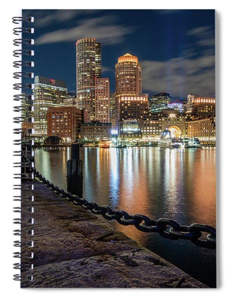 Boston At Blue Hour Spiral Notebook