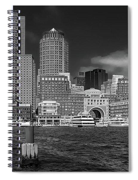 Boston Harbor Skyline Spiral Notebook