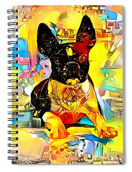Boston Terrier Dog With Bright Colors Spiral Notebook