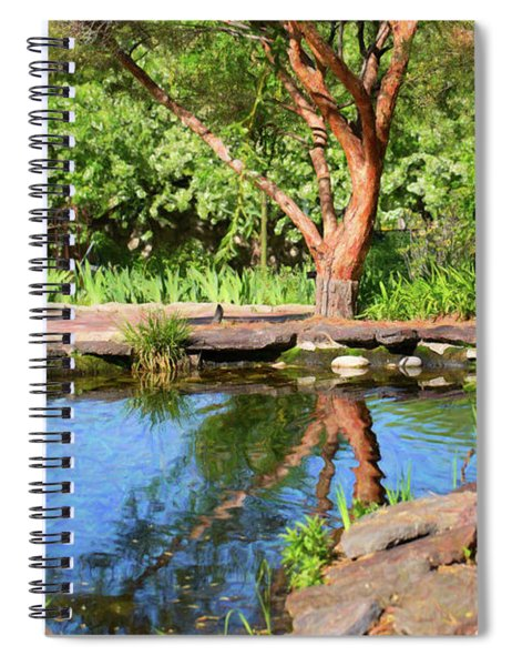 Botanical Garden - Reflecting Growth - By Omaste Witkowski Spiral Notebook