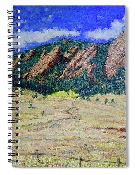Flatirons Boulder Colorado Spiral Notebook