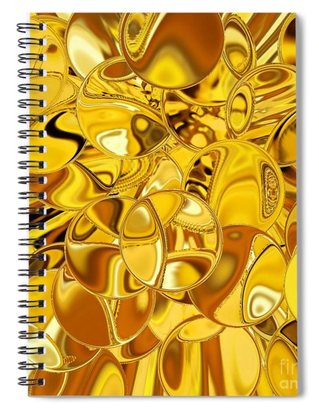Spiral Notebook featuring the digital art Boules D Or by A zakaria Mami