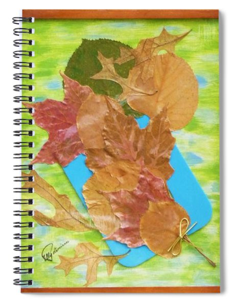 Bouquet From Fallen Leaves Spiral Notebook