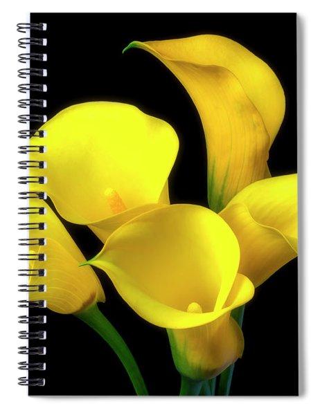 Bouquet Of Yellow Calla Lilies Spiral Notebook