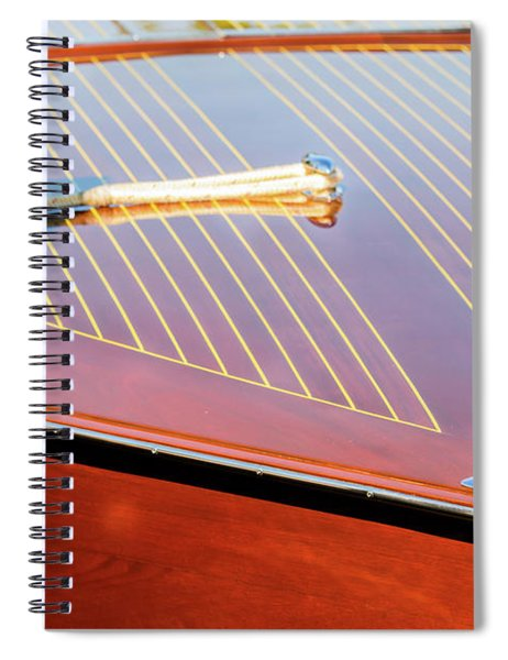 Bow Of Wood Spiral Notebook