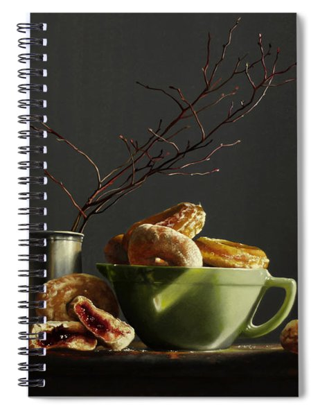 Bowl Of Donuts Spiral Notebook