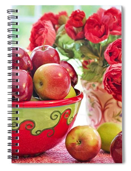 Bowl Of Red Apples Spiral Notebook