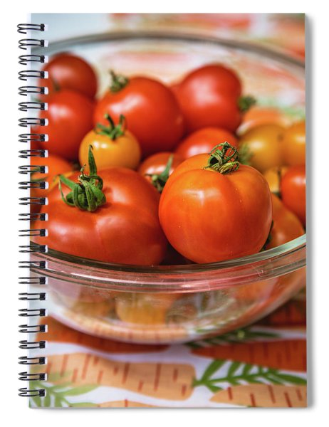 Bowl Of Tomatoes Spiral Notebook