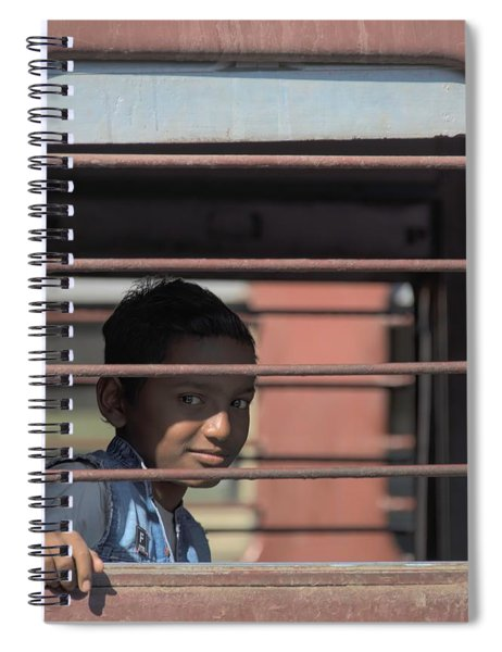 Boy On A Train Spiral Notebook