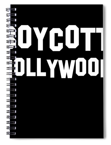 Boycott Hollywood Spiral Notebook