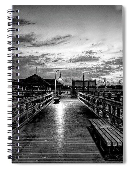 Bradenton Beach City Pier Spiral Notebook