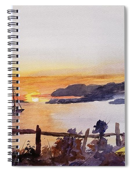 Brakey Bay Sunset Spiral Notebook