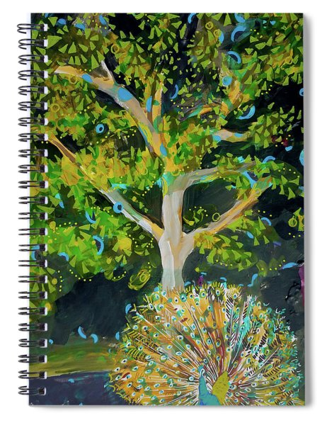 Branching Out Peacock Spiral Notebook