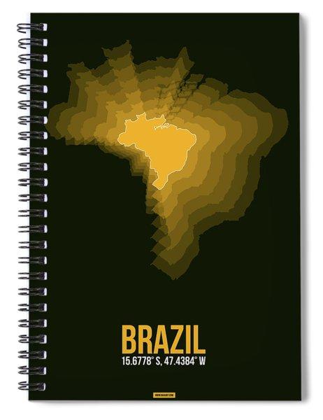 Brazil Radiant Map 1 Spiral Notebook
