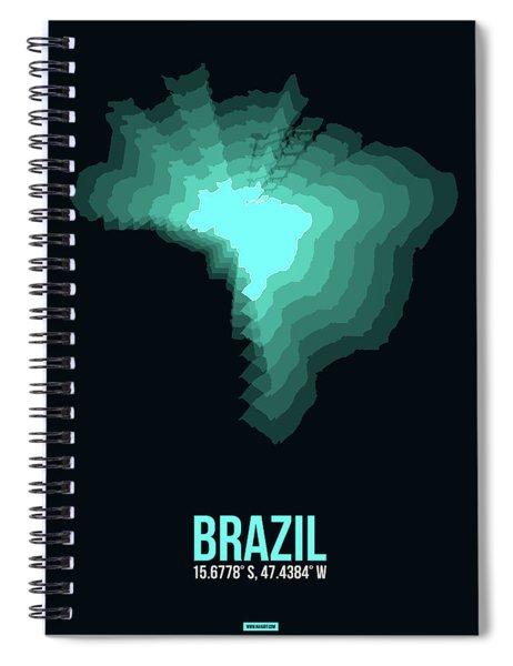 Brazil Radiant Map 2 Spiral Notebook