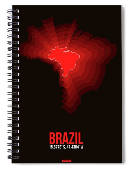Brazil Radiant Map 3 Spiral Notebook