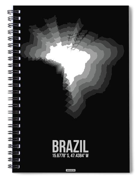 Brazil Radiant Map 4 Spiral Notebook