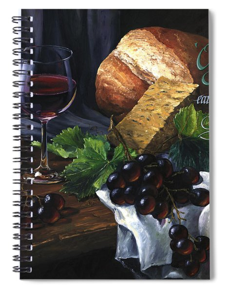 Bread And Wine Spiral Notebook