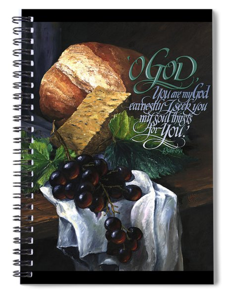 Bread And Wine Spiral Notebook by Clint Hansen