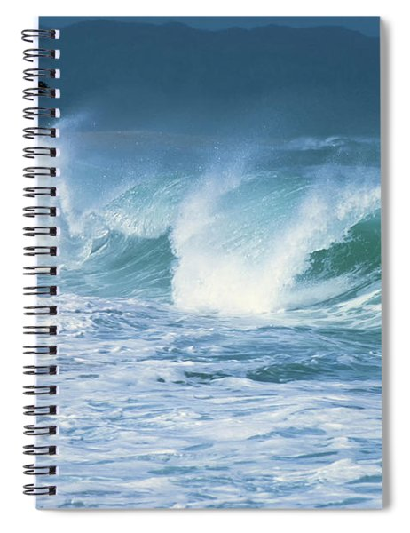 Breaking Wave North Shore Spiral Notebook