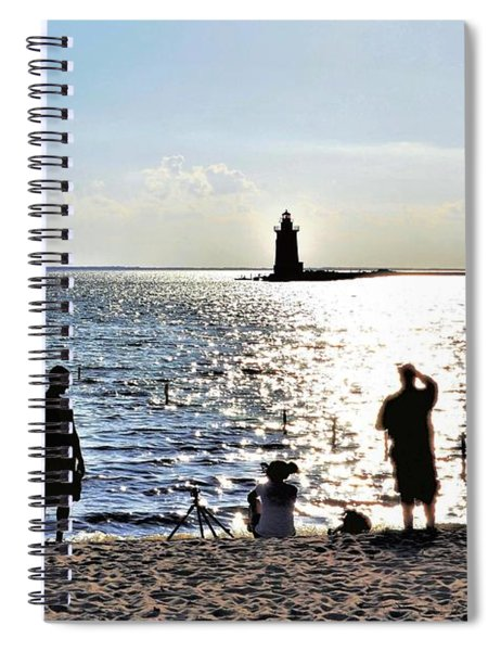Breakwater East End Beach Scene Spiral Notebook