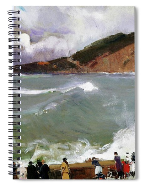 Breakwater, San Sebastian - Digital Remastered Edition Spiral Notebook