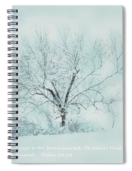 Breath Of Winter Spiral Notebook
