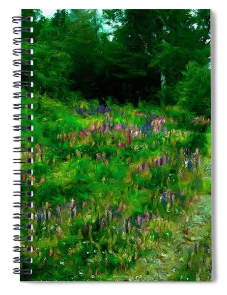 Breeze On The Lupine Field Spiral Notebook