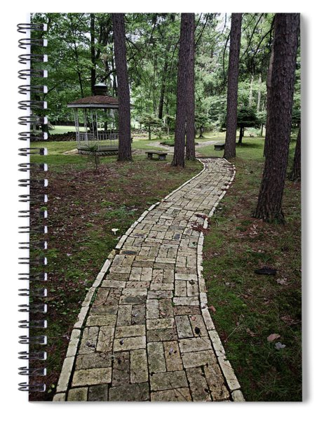 Brick Path Through The Trees Spiral Notebook
