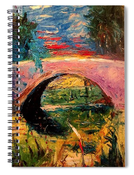 Bridge At City Park Spiral Notebook