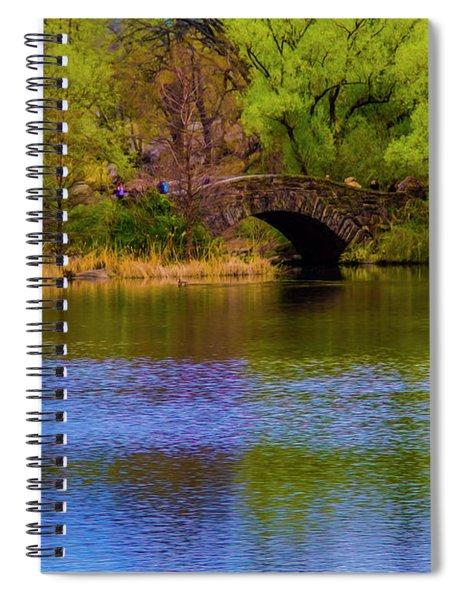 Bridge In Central Park Spiral Notebook