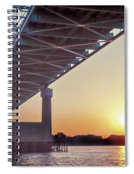 Bridge Over Mississippi River Spiral Notebook
