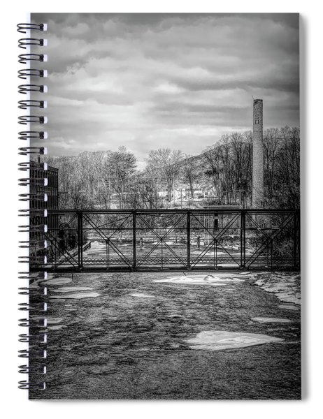 Bridge Over The Sugar River Spiral Notebook