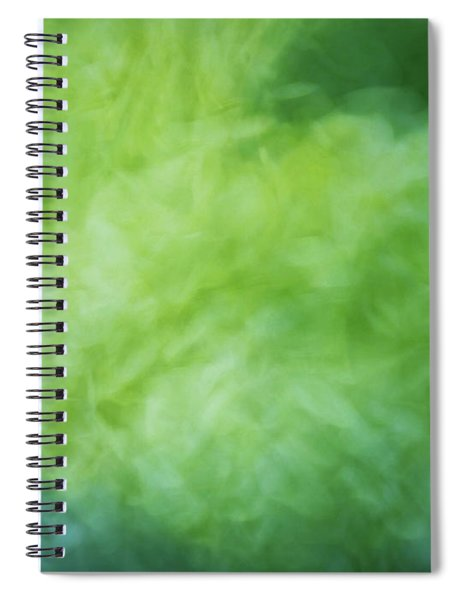 Bright Artistic Smoky Shapes Of Green, Yellow And Blues Color Texture Spiral Notebook