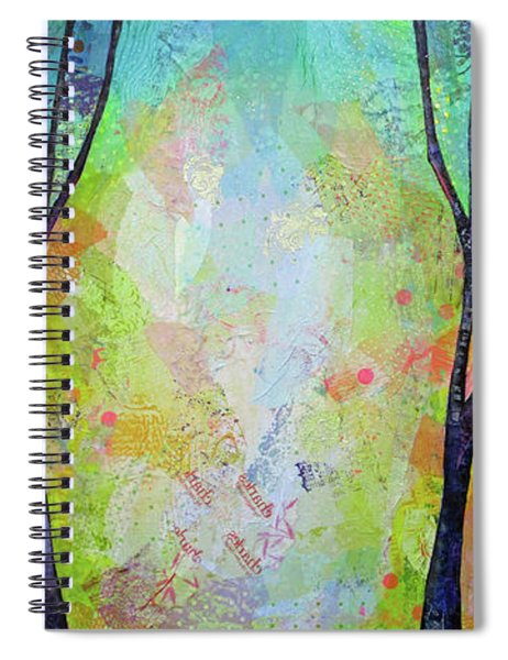 Bright Skies For Dark Days V Spiral Notebook