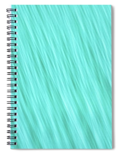 Bright Turquoise Blue Blurred Diagonal Lines Abstract  Spiral Notebook
