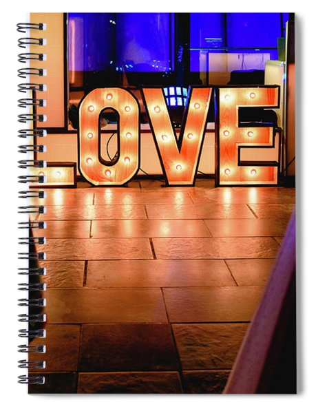 Bright Wooden Letters With Word Love In A Party Spiral Notebook