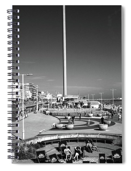Brighton Beach, England Spiral Notebook
