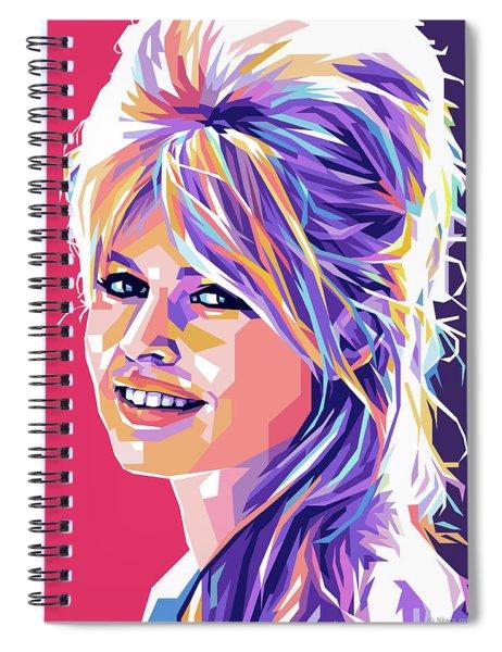 Brigitte Bardot Pop Art Spiral Notebook