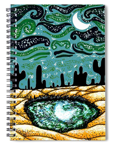 Bring The Moon On Earth Spiral Notebook