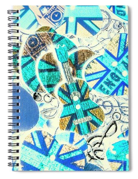 Britain Blues Spiral Notebook