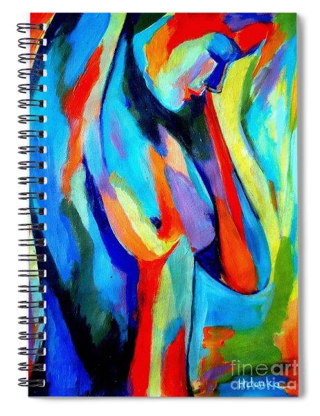 Broken Woman Spiral Notebook