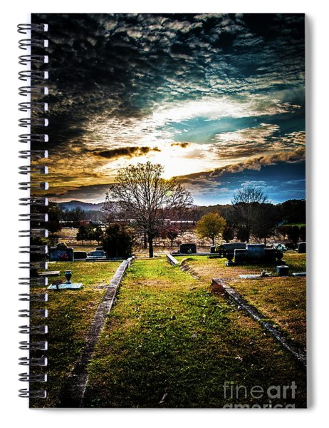 Brooding Sky Over Cemetery Spiral Notebook
