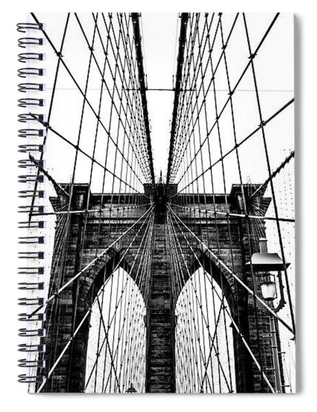 Brooklyn Bridge Web Spiral Notebook