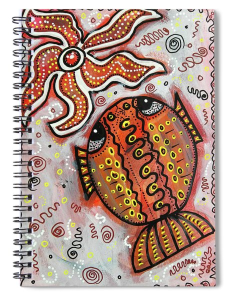 Brother Fish And Sister Starfish In Deep Conversation Spiral Notebook
