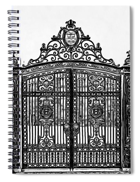 Brown University Gate Graphic Novel Version Spiral Notebook